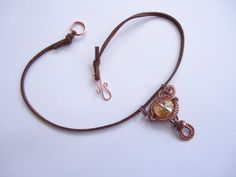 Copper, crystal and suede necklace by Jenny Sangster www.jennysangster.co.nz