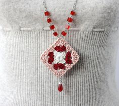 long necklace granny square