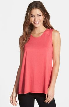 Halogen® Pleat Back Mixed Media Top available at #Nordstrom