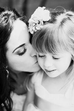 mother and her flower girl daughter wedding pictures - Google Search