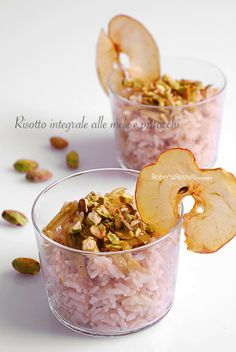 Rice with green and red apple Blog: http://ilsensogusto.blogspot.it/2013/12/look-risotto-sbagliato.html