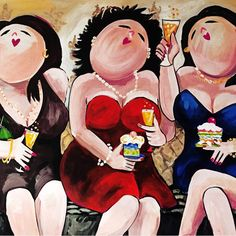 fat ladies on couch - Funny Paintings, Happy Paintings, Plus Size Art, Fat Art, Art For Art Sake, Renoir, Whimsical Art, Acrylic Painting Canvas, Painting Inspiration