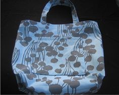 classic tote - use home dec. fabric to make it sturdy (maybe add a small library card pocket to make a library bag?)