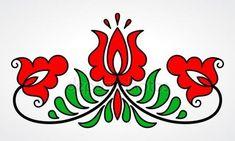 Traditional Hungarian floral motif — Stock Vector