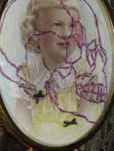 embroidered vintage photo SUSIE free style by sweetalicelovesyou