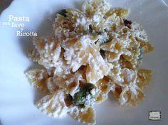 La pasta con le fave e ricotta di bufala è un primo piatto facile e veloce da preparare. Un piatto molto gustoso, che vi sorprenderà!