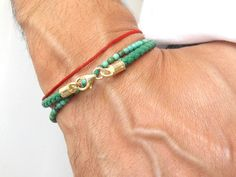 Mens//Ladies 5mm Nappa Leather Bracelet-Sterling Silver Clasp-Jade Green-Handmade