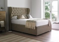 Healthopaedic Ottoman Storage Bed Base - Storage Beds - Beds