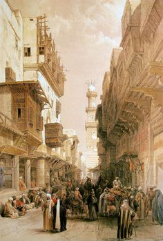 Mosque El Mooristan Canvas Print / Canvas Art by David Roberts
