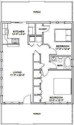 Senior living floor plans 800 sq ft 800 square feet 2 for 28x32 floor plan