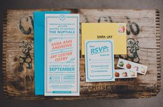 Paper goods by the groom, Jay Ostby (Click through to see the whole wedding, very nice!)