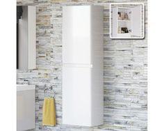 Denver Hangende Badkamerkast Wit Hoogglans - 140 x 40 cm