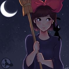 DeviantArt is the world's largest online social community for artists and art enthusiasts, allowing people to connect through the creation and sharing of art. Kiki Delivery, Kiki's Delivery Service, Jiji Kiki, Studio Ghibli Movies, Movie Collection, Cool Paintings, Detailed Image, Fan Art, Deviantart
