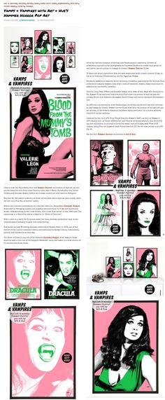 Art & Hue's Hammer Horror pop art prints featured at Home Arty Home interiors & art blog.