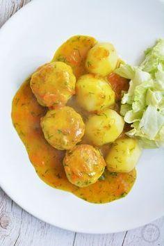 pulpeciki z indyka w sosie z kurkumy