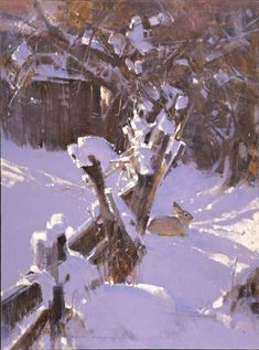 As an unassuming artist's artist, painter James Morgan composes intimate vignettes of wild, sublime beauty Paintings I Love, Seascape Paintings, Animal Paintings, Beautiful Paintings, Landscape Paintings, Painting Snow, Winter Painting, Watercolor Landscape, Abstract Landscape