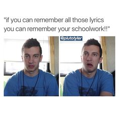 Um hell naw I need to remember every TØP P!ATD MCR & FOB song I think that's enough