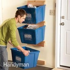 garage organization:  create recycle bins right outside the door.