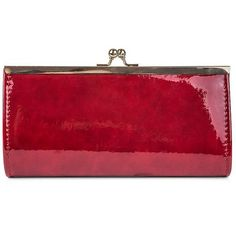 Jessica Mcclintock Laura Faux Leather Clutch ($42) ❤ liked on Polyvore featuring bags, handbags, clutches, red, jessica mcclintock purse, red purse, red clutches, vegan handbags and chain purse