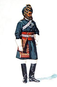 British;13th Bengal Lancers, Native Officer 1897.