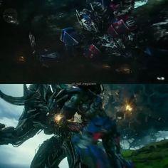 "Polubienia: 29, komentarze: 1 – Megatron | 2.9k (@all_hail_megatronn) na Instagramie: ""Top: Optimus and Dragonstorm  Bottom: Optimus vs Infernocus ▪▪▪ #transformers5 #transformers…"""