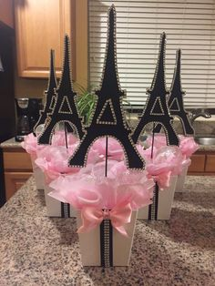 Paris Eiffel Tower Centerpiece-Party theme,Paris baby shower- Paris wedding-Paris sweet 16-Paris bridal shower