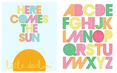 here comes the sun free printables for nursery