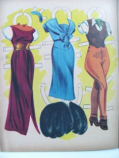 Jane Russell Paper Dolls Uncut Vintage 1955 by lindapaloma on Etsy