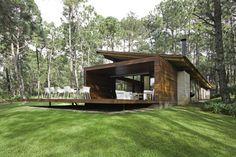 สถาปัตยกรรมบ้านพักไม้ที่ทันสมัย