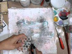 (3) ▶ Mixed Media Layout Tutorial - 7 Dots Studio - YouTube | Journal artistique | Pinterest