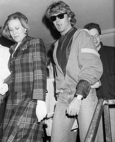 The Wham! singer returned to Gatwick on April 14, 1985 after performing in China.