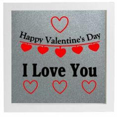 Vinyl Sticker DIY Box Frame - Happy Valentines Day - I Love You Quote Red Black #Unbranded #angelic