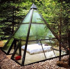 pyramid home/room....make it out of copper for the best possible energy flow!