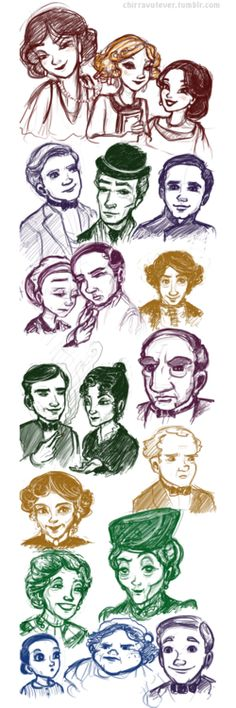An artist's vision of Disney Downton Abbey.