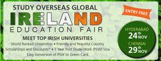 Don't forget to register yourself in our upcoming Ireland Fairs organizing at Hyderabad and Chennai on 24th and 29th November 2016. Visit: http://myeducationfair.in/ for details #StudyOverseas #Irelandfairs