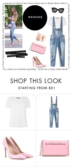 """""""Pink subtly"""" by linefreh ❤ liked on Polyvore featuring MaxMara, Relaxfeel, Gianvito Rossi, Valentino, CÉLINE, women's clothing, women, female, woman and misses"""