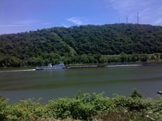 Barge on the Ohio River near Steubenville