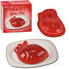 Jello-shot heart?!  How creepy-weird for Halloween!