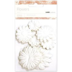 Paper Flowers 2cm, 3.5cm, 5cm Assorted 60/Pkg-Snow -- To view further for this item, visit the image link.
