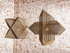 Angles: A Pendant Lamp Made Up of 64 Rectangles - Design Milk