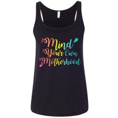 Mind Your Own Motherhood™ Rainbow Relaxed Tank