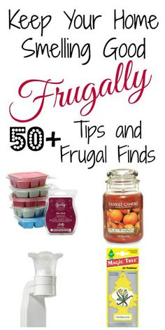 TONS of tips and frugal finds to keep your home smelling nice. I never would have thought of the first one.