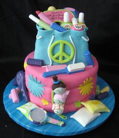 """Spa Sleepover Cake...perfect for Alyssa bday coming up...she wants """"spa"""" party with her girlfriends. :)"""