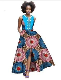 Special Use: Traditional Clothing Item Type: Africa Clothing Gender: Women Brand Name: Dream Possible Model Number: Material: Cotton Type: dress African Fashion Ankara, African Print Fashion, Fashion Prints, African Prints, African Attire, African Wear, African Dress, Queen Outfit, Ankara Designs