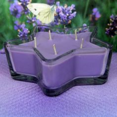 Lavender PURE SOY Star Container Candle 11 oz.
