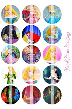 Disney Sleeping Beauty Bottle Cap Images by KotahBearBoutiqe, $2.20
