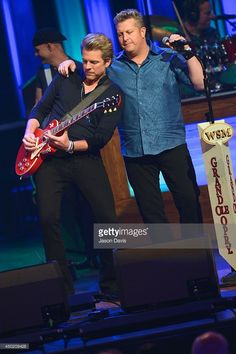 Recording Artists Joe Don Rooney and Gary LeVox of Rascal Flatts performs at The Grand Ole Opry on June 2014 in Nashville, Tennessee. Grand Ole Opry, Rascal Flatts, Nashville Tennessee, Vernon, Country Music, June, Singer, Artists, Country