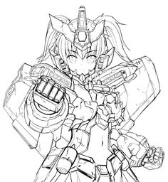 Frame Arms Girl, Mobile Suit, Gundam, Adult Coloring, Robots, Science Fiction, Character Design, Cosplay, Twitter