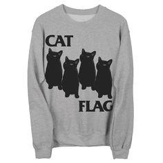 CAT FLAG Crew Gildan Sweatshirt by SleazySeagull on Etsy https://www.etsy.com/listing/113072193/cat-flag-crew-gildan-sweatshirt