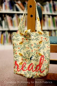birchfabrics: Tutorial | Back To School Book Tote | by Christina McKinney